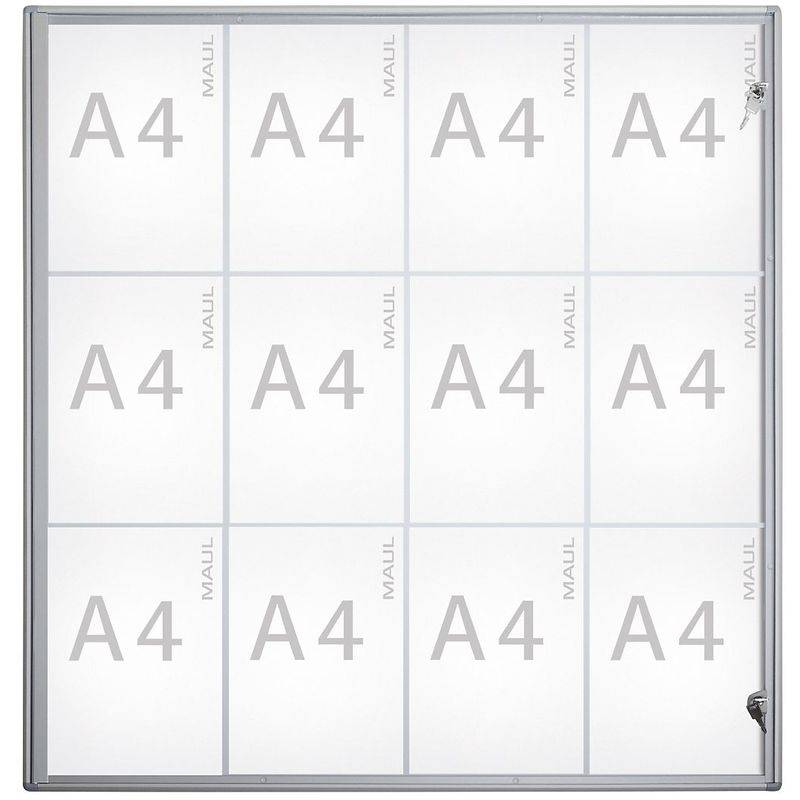 MAUL – Vitrine d'affichage, profondeur extérieure 27 mm - hauteur extérieure