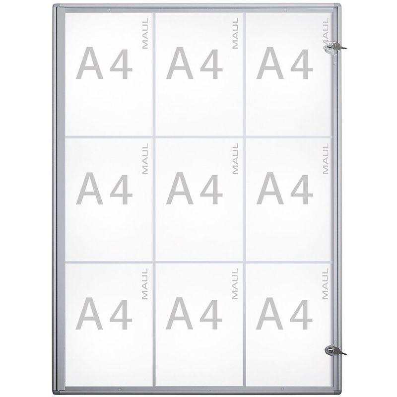 MAUL – Vitrine d'affichage, profondeur extérieure 27 mm - hauteur extérieure 963 mm,