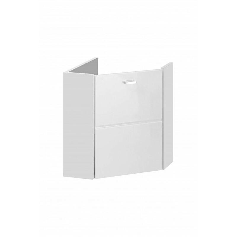 AC-DÉCO Meuble sous vasque mural d'angle - 40 x 40 x 46 cm - Finka White - Livraison