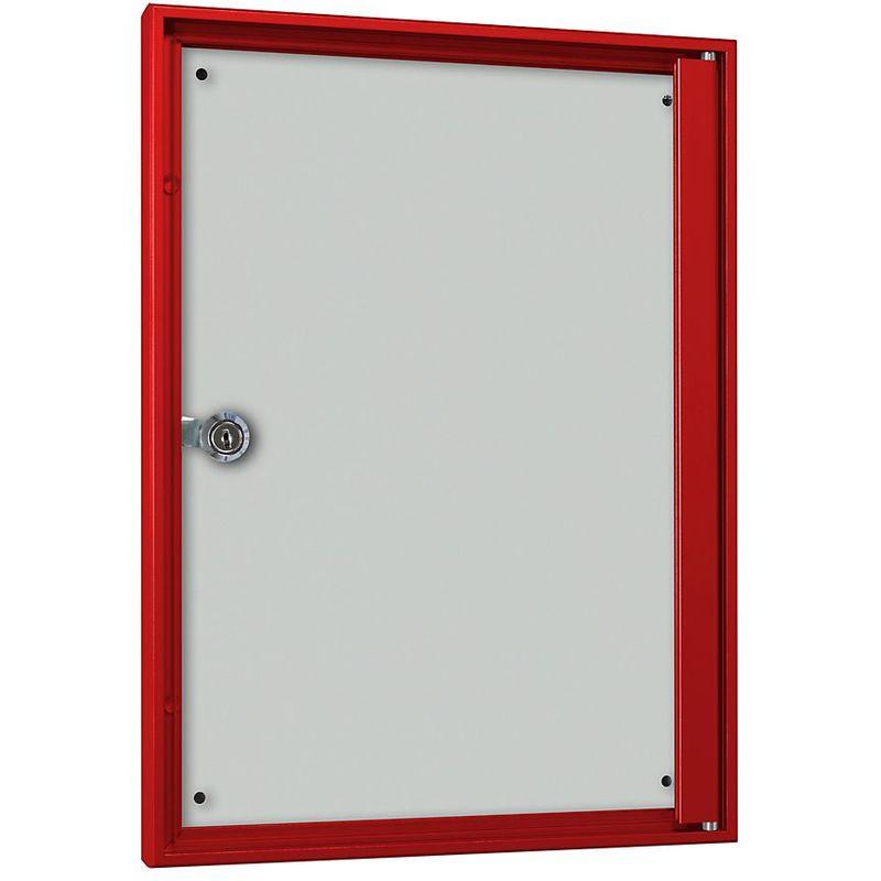 CERTEO Vitrine d'affichage pour l'intérieur - pour 1 x format A4 - cadre rouge