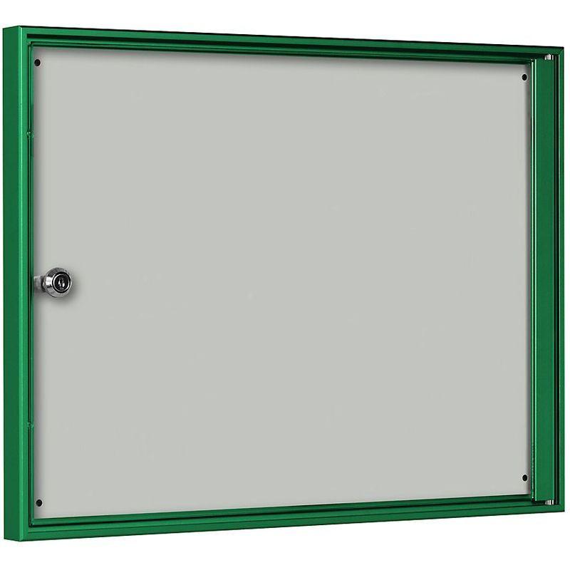 CERTEO Vitrine d'affichage pour l'intérieur - pour 2 x 1 format A4 - cadre vert