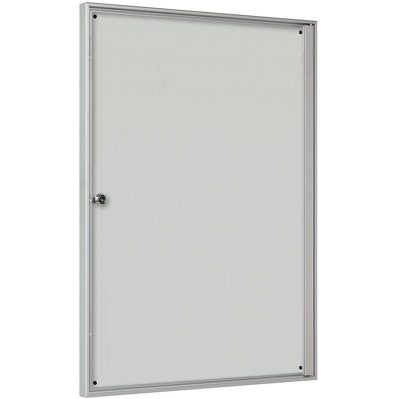 CERTEO Vitrine d'affichage pour l'intérieur - pour 2 x 2 format A4 - cadre anodisé