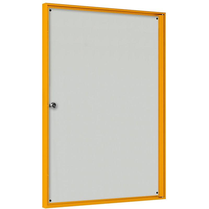 CERTEO Vitrine d'affichage pour l'intérieur - pour 2 x 2 format A4 - cadre jaune