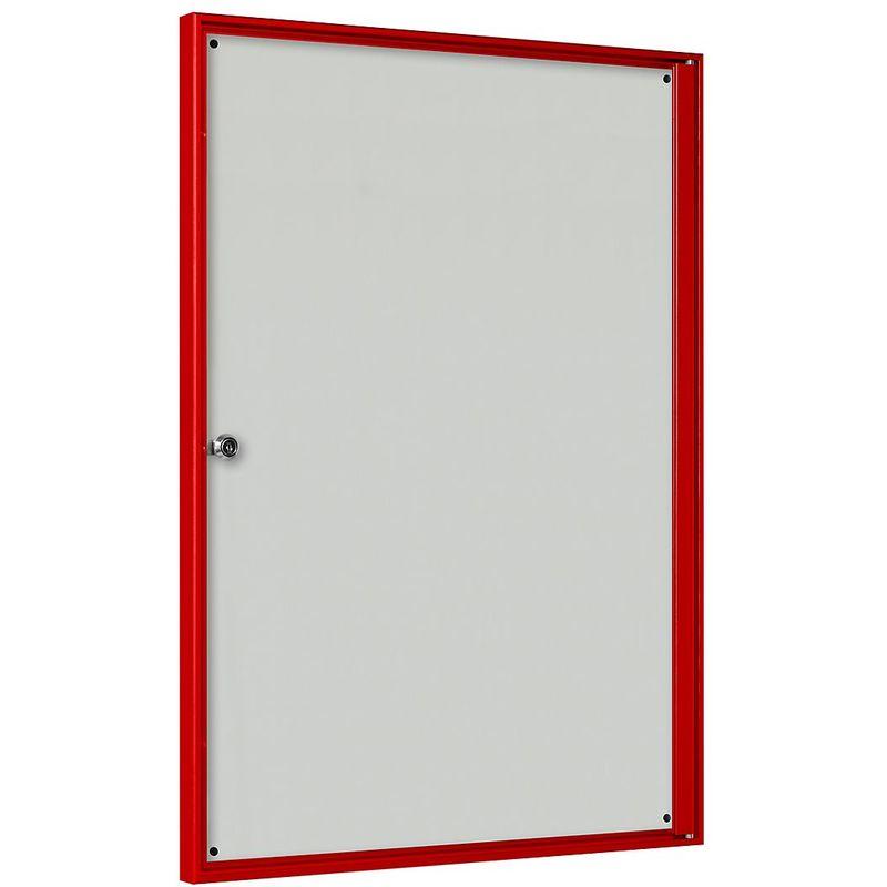CERTEO Vitrine d'affichage pour l'intérieur - pour 2 x 2 format A4 - cadre rouge