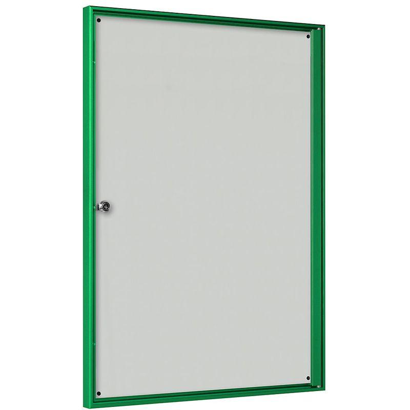 CERTEO Vitrine d'affichage pour l'intérieur - pour 2 x 2 format A4 - cadre vert