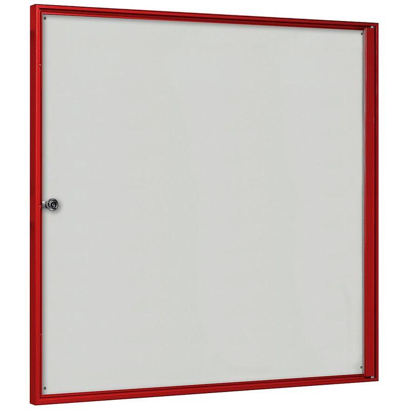 CERTEO Vitrine d'affichage pour l'intérieur - pour 3 x 2 format A4 - cadre rouge