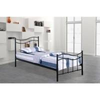 Price Factory - Lit ODETTE 90x200 cm en métal coloris noir avec sommier. - Noir <br /><b>139.00 EUR</b> ManoMano