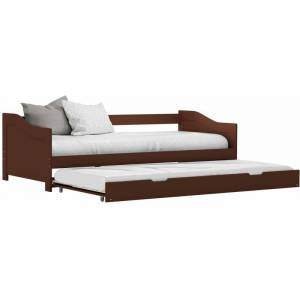 Youthup - Cadre de lit extensible Marron foncé Bois de pin 90x200 cm - Publicité