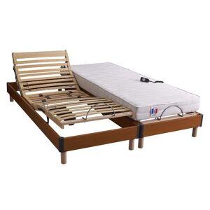 Idliterie - Ensemble relaxation ressorts 5 zones + sommier avec réglage fermeté - Publicité