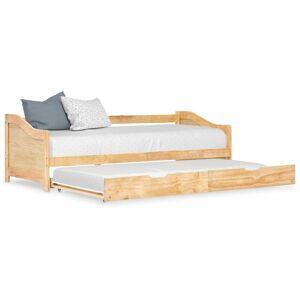 HOMMOO Cadre de lit extensible Bois de pin 90x200 cm HDV24040 - Hommoo - Publicité