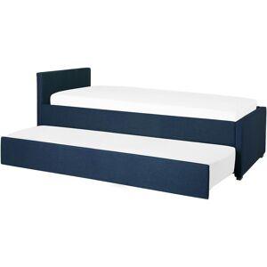 Beliani - Lit gigogne en tissu bleu marine 80 x 200 cm MARMANDE - Publicité