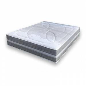 ESSENZIA Matelas Essenzia SPRING 3200 Ferme COTON ORGANIQUE 100x200 Ressorts - Blanc - Publicité