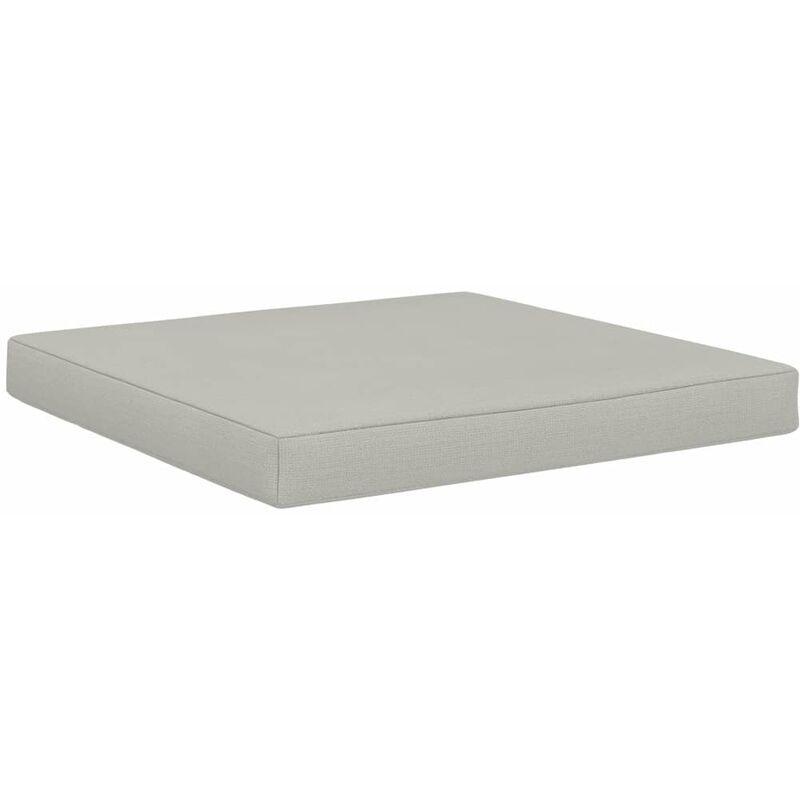 ILOVEMONO Coussin de plancher de palette 60x61,5x6 cm Beige Tissu