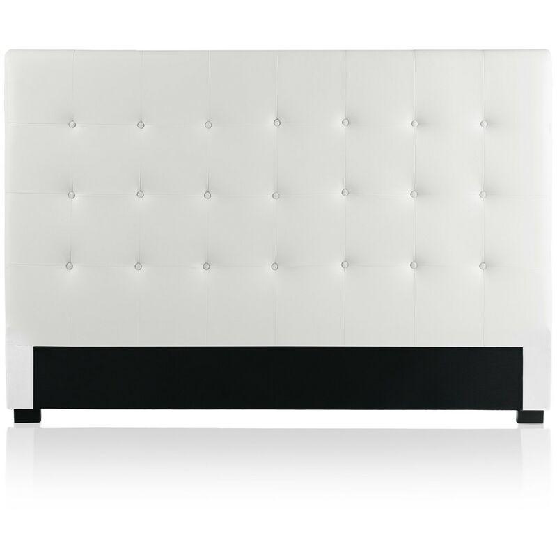 INTENSEDECO Tête de lit capitonnée Premium 180cm Blanc