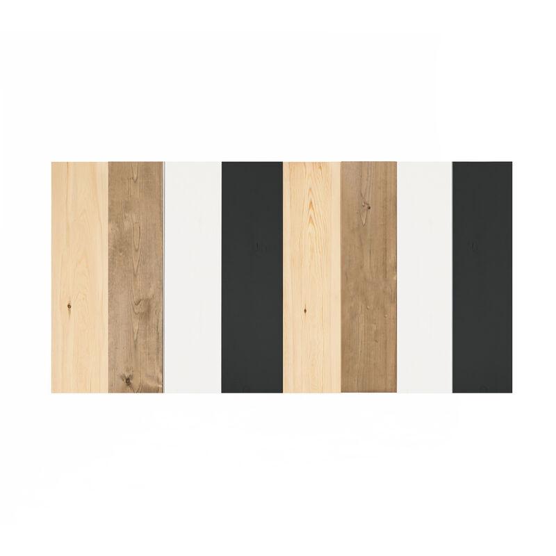 DECOWOOD Tête de lit coCadre blancinée ardoise flandes 200x80cm