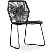 PRIVATEFLOOR Chaise de jardin Patricia Urquiola Tropicalia Noir <br /><b>75.9 EUR</b> ManoMano
