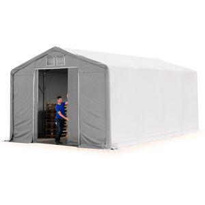 INTENT24.FR 5x8m hangar INTENT24, PVC d'env. 550 g/m², H. 3m avec porte coulissante - Publicité