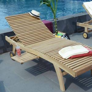 Teck'attitude - Bain de Soleil en teck Ecograde - Beverly - Naturel - Publicité