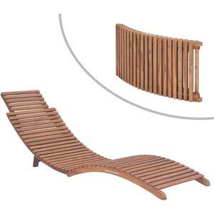 VIDAXL Chaise longue pliable Bois de teck solide - Publicité
