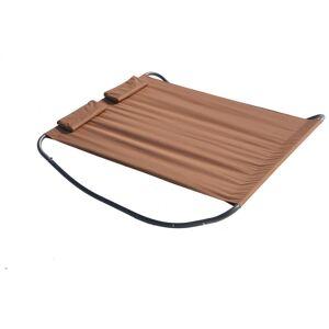 CONCEPT-USINE Coachella chocolat : lit de jardin & transat à bascule 2 personnes - Publicité