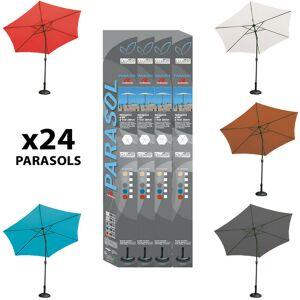 Imagin - Display 24 parasols droit inclinable Ø300cm - Publicité