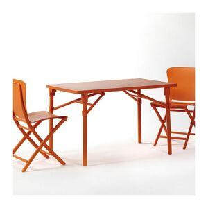 NARDI Ensemble de jardin resine design Zic Zac Classic 117x72 par NARDI - Orange - Publicité