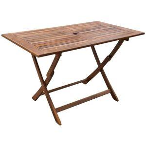 Hommoo Table de jardin 120x70x75 cm Bois d'acacia massif HDV26704 - Publicité