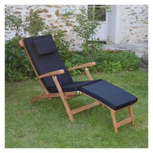 Teck'attitude - Matelas Noir pour Chaise longue - Noir - Publicité