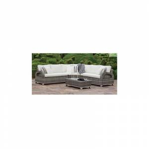 HEVEA Salon de jardin canapé 7 places avec table basse DALAS HEVEA - Publicité