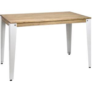 Ds Muebles - Table salle à manger Lunds Blanc 80x120x75cm Vintage Industriel - Publicité