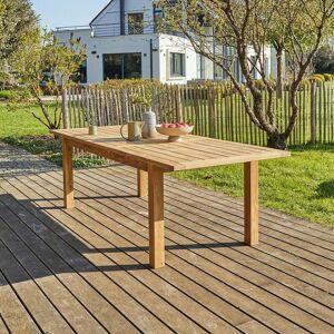 Bois Dessus Bois Dessous - Table de jardin en teck recyclé extensible 8/10 - Publicité