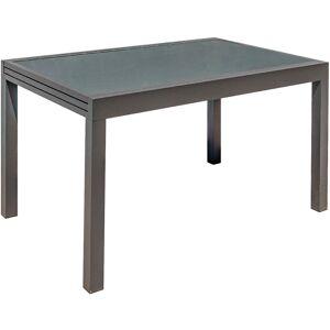 Miliboo - Table de jardin extensible gris anthracite L135-270 cm PORTOFINO - Publicité