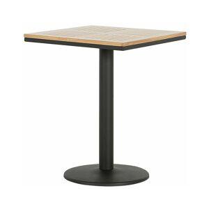 Beliani - Table de jardin en bois clair et acier noir 60 x 60 cm PALMI - Publicité