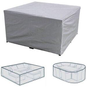 Happyshop - Table et chaise de jardin de cour exterieure couverture impermeable - Publicité