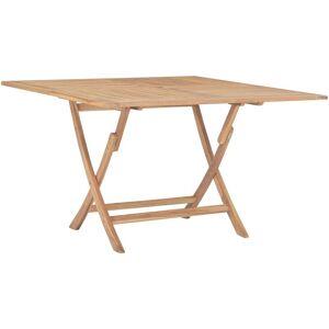 YOUTHUP Table pliable de jardin 120x120x75 cm Bois de teck solide - Publicité