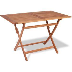 Youthup - Table pliable de jardin 120x70x75 cm Bois de teck solide - Publicité