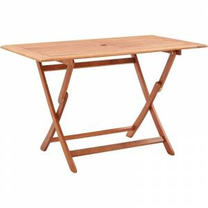 ASUPERMALL Table pliable de jardin 120x70x75 cm Bois d'eucalyptus solide - Publicité