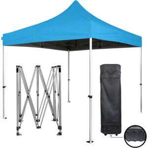 GREADEN Tente pliante bleu ciel 3x3m SUPER Robuste Tube 40mm en aluminium Bâche 300g/m2 - Publicité