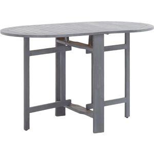 TOPDEAL VDTD45462_FR Table de jardin Gris 120x70x74 cm Bois d'acacia massif - Topdeal - Publicité