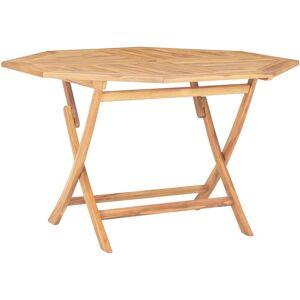 True Deal Table pliable de jardin 120x120x75 cm Bois de teck solide - Publicité