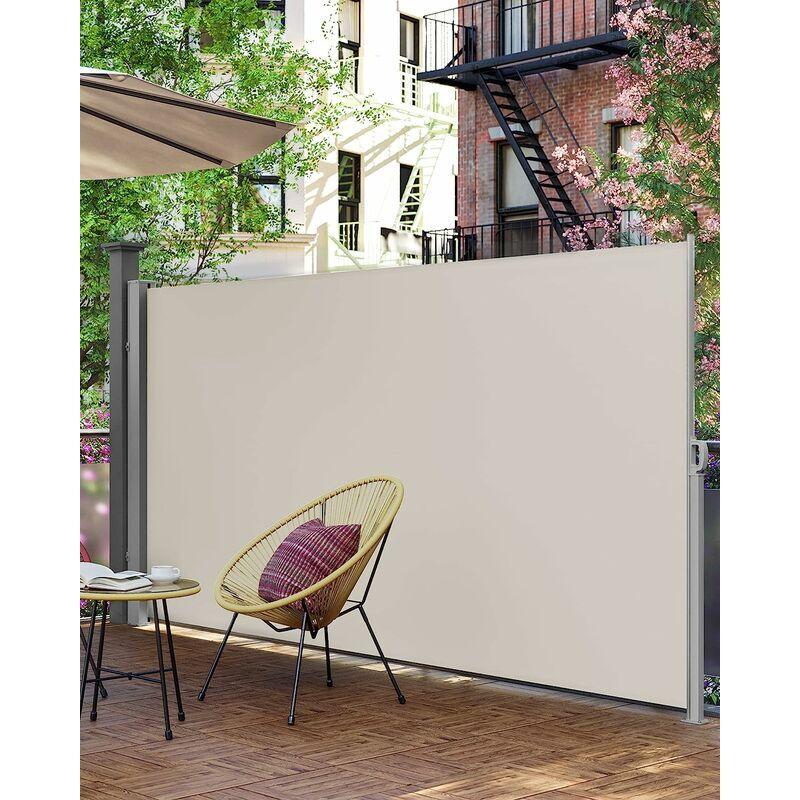 SONGMICS 200 x 350 cm (H x L), Store latéral pour Balcon et terrasse, Pare-Soleil,