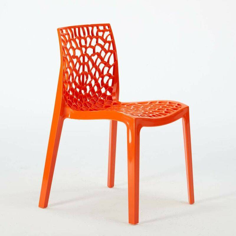 GRAND SOLEIL 22 Chaises GRUVYER nid d'abeille colorées promo prix stock   Orange - Grand