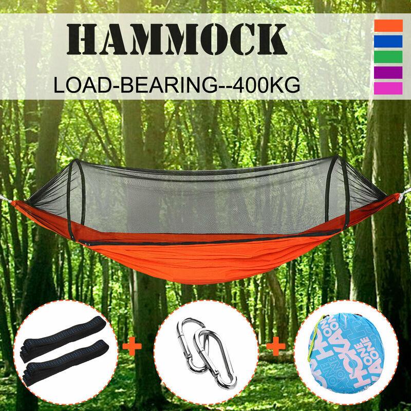 MOHOO 270 * 140 cm voyage en plein air Camping suspendu hamac lit moustiquaire
