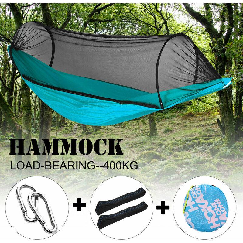 MOHOO 270 * 140cm voyage en plein air Camping hamac suspendu lit moustiquaire