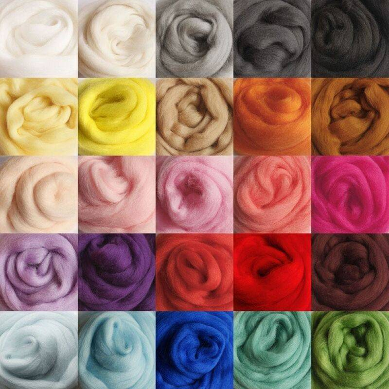 MAEREX 36 couleurs filature à la main couture coupe coupe en fibre de laine mérinos