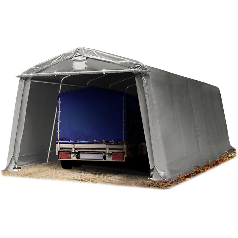 INTENT24.FR Abri/Tente Garage Premium 3,3 x 7,7 m pour Voiture et Bateau - Toile PVC env.