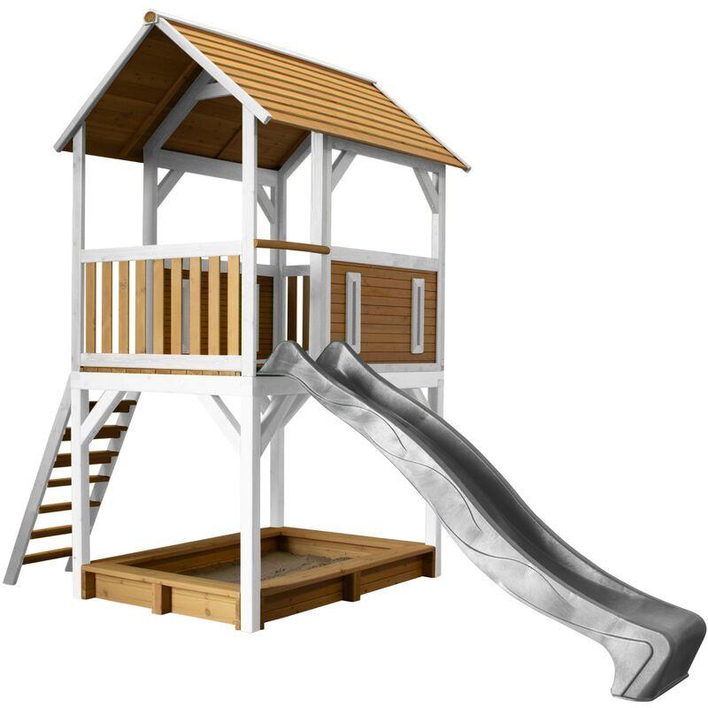 AXI Pumba Maison Enfant avec Bac à Sable & Toboggan gris   Aire de Jeux pour