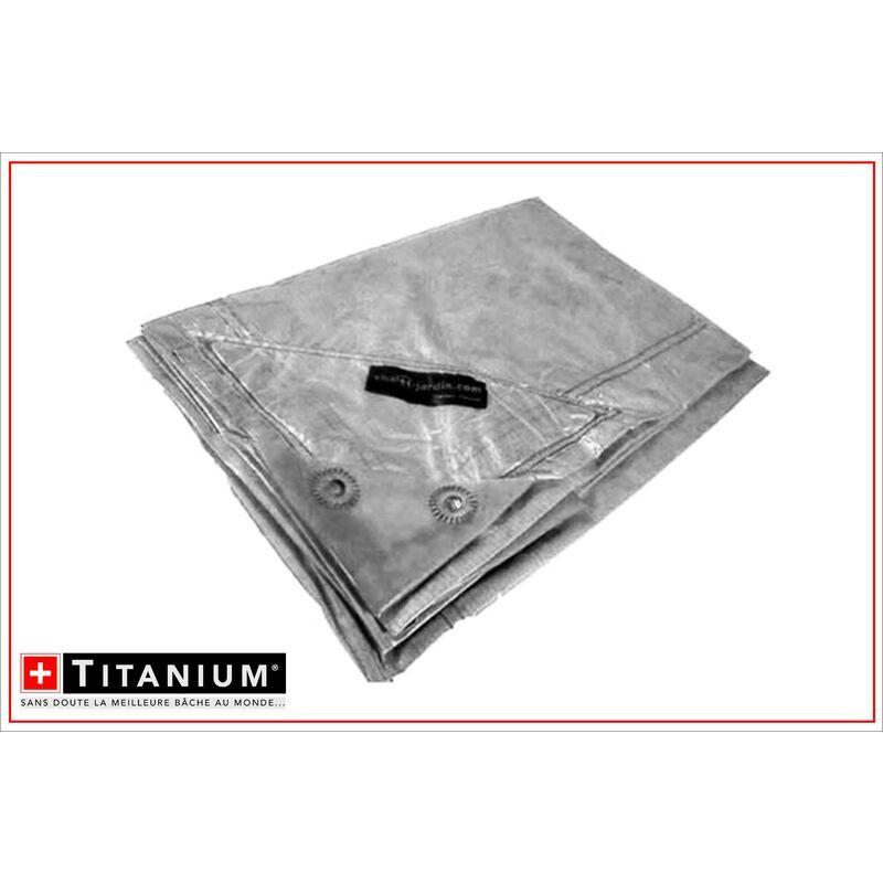 CHALET & JARDIN Bâche de protection indéchirable TITANIUM® - 2 x 3 m - TRANSLUCIDE