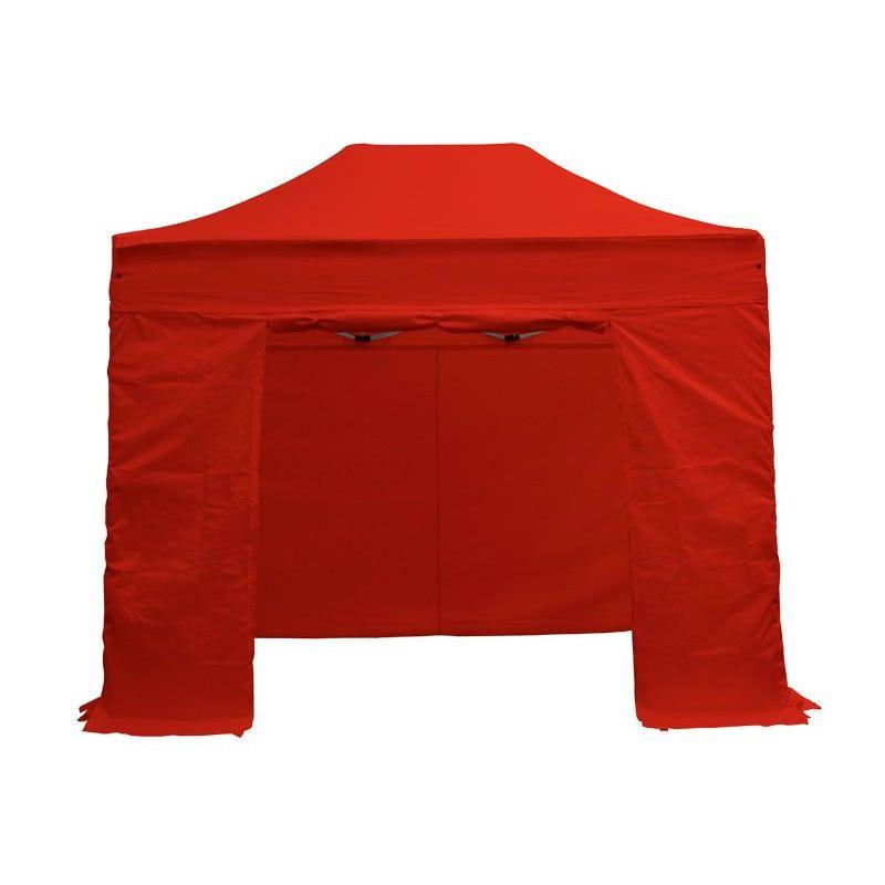 INTEROUGE Barnum pliant tonnelle 2x3m Pack complet Alu 40 polyester 300g/m² pelliculé PVC