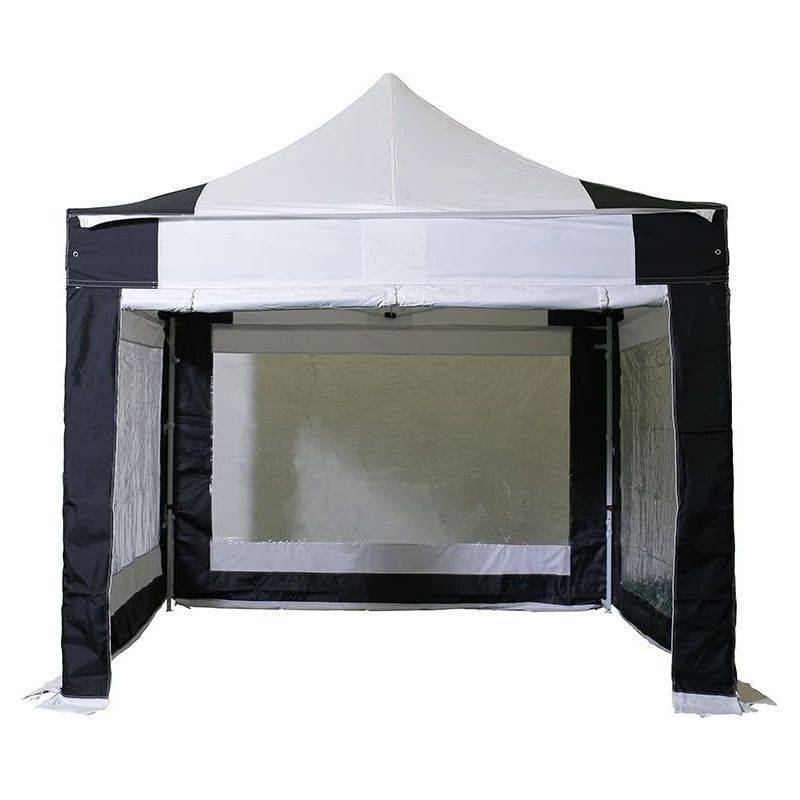 INTEROUGE Barnum pliant tonnelle 3x3m Pack complet Alu 40 polyester 300g/m² pelliculé PVC
